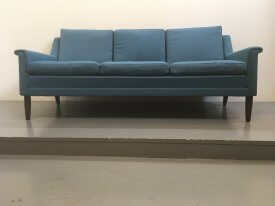 Danish Blue Wool Sofa