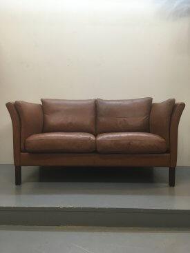 Skalma Leather Sofa