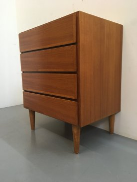 Danish Small 4 Drawer Chest