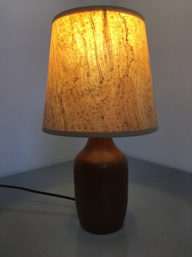 Teak bottle lamp