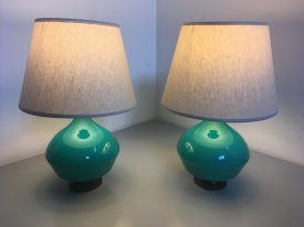 Turquoise waisted Lamps
