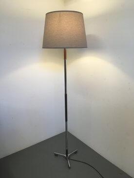 Chrome & Rosewood Standard Lamp