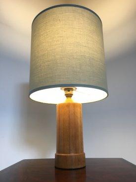 Oak Bottle Lamp