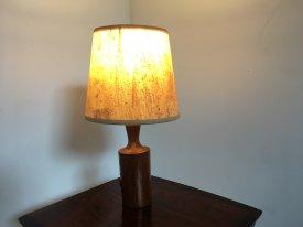 Small Teak Bottle Lamp