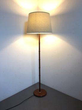 Teak Ringed Standard Lamp