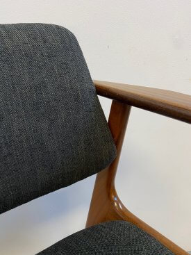 Danish Black Armchair