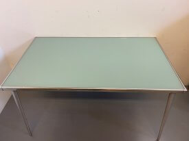 French Green Glass Table