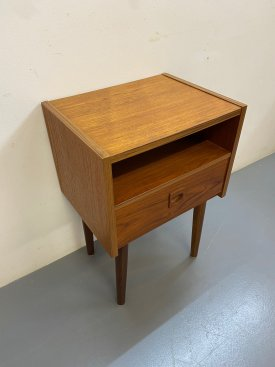 Single Drawer Teak Bedside