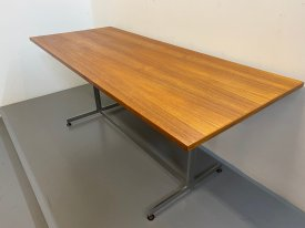 Large Teak & Steel Table
