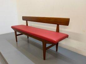 British Teak & Leather Bench