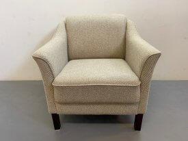 Danish Cream Wool Armchair