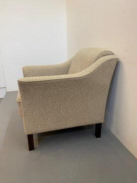 Danish Cream Wool Armchairs