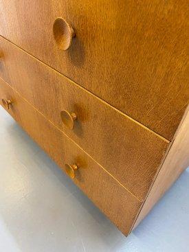 British Oak 3 Drawer Chest