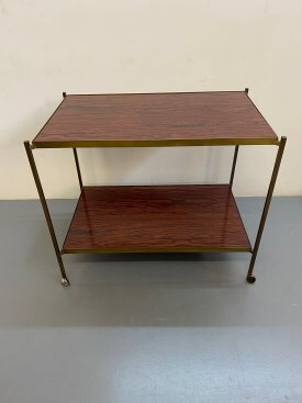 1970's Brass Drinks Trolley