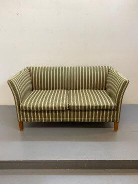 Green Striped Danish Sofa