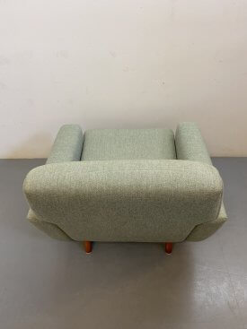 Danish Green Wool Armchair