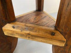 Hand Made Oak & Teak Garden Table