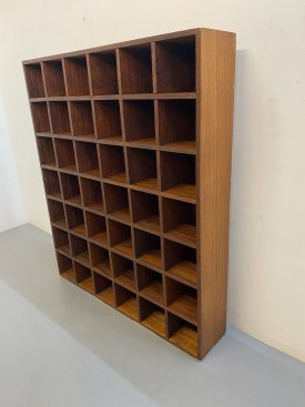 Large Teak Sorting Shelves