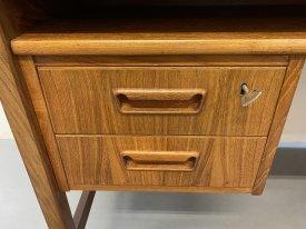Danish Teak 4 Drawer Desk