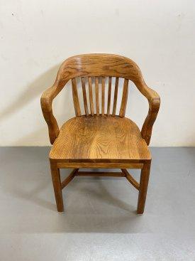 1930's Oak Bankers Chair