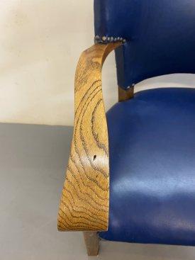 1940's British Oak Armchairs