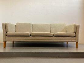 Danish Cream Wool 3 Seat Sofa