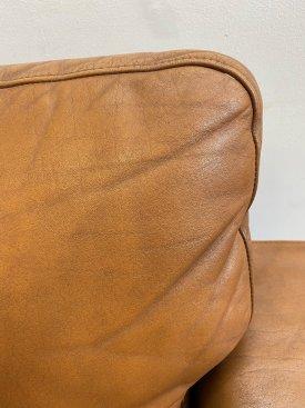 Danish Cognac Leather Sofa