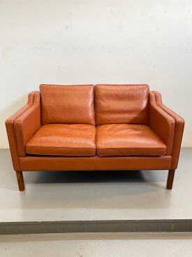 Stouby Cognac Leather 2 Seat Sofa