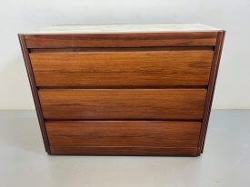 Rosewood & Marble 3 Drawer Chest