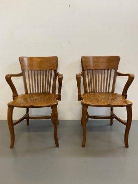 1940's Oak Armchairs