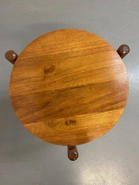 Solid Teak Tripod Table