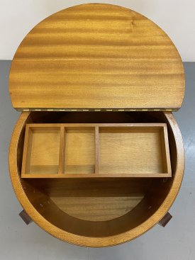 1960's Drum Sewing Box