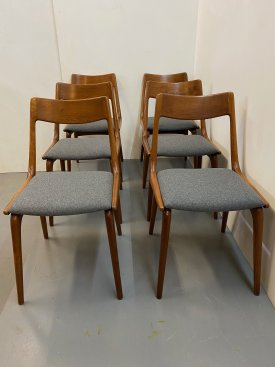 Danish Teak Boomerang Chairs