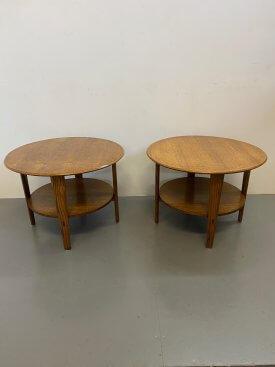 1940's Oak 2 Tier Tables