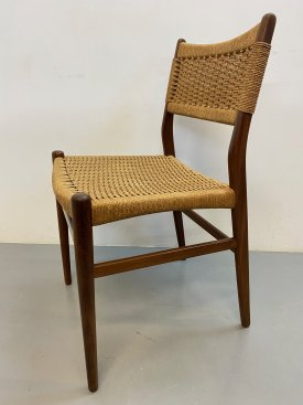 Danish Paper Cord Dining Chairs