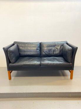 Danish Leather 2 Seat Sofa